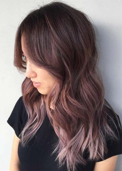 Chocolate mauve best new hairstyle