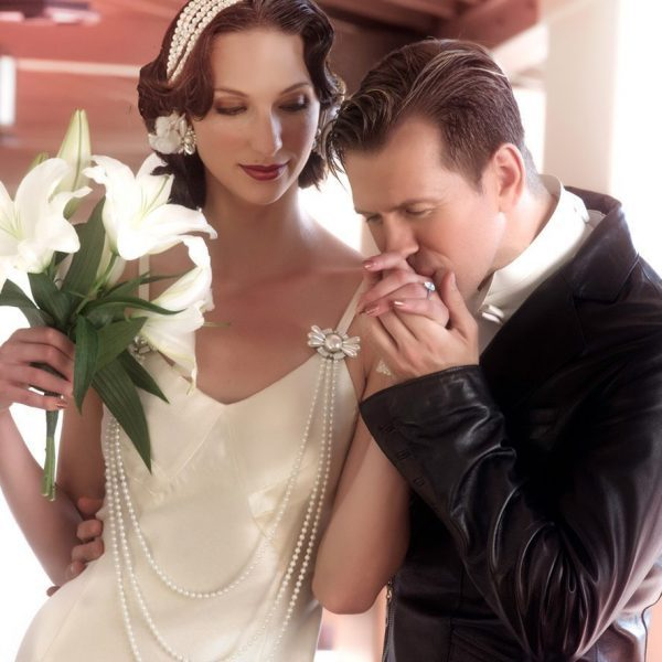 A Man and a Woman During their Wedding Functio